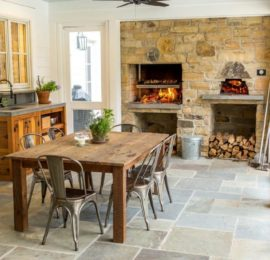 Dillmon Residence – Back Porch Dining, Grill & Pizza Oven